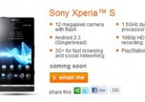 Sony Xperia S: 'Coming Soon' to Orange UK